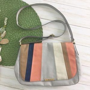 Relic Gray Striped Crossbody Bag